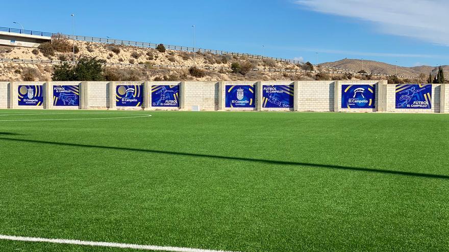 Obras de conservación y cambio de señalética en el polideportivo El Vincle de El Campello