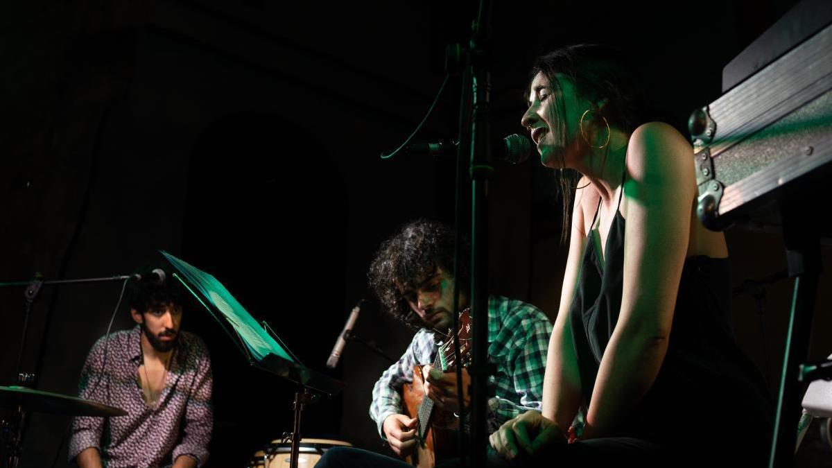 El grupo, durante un concierto en Zamora.