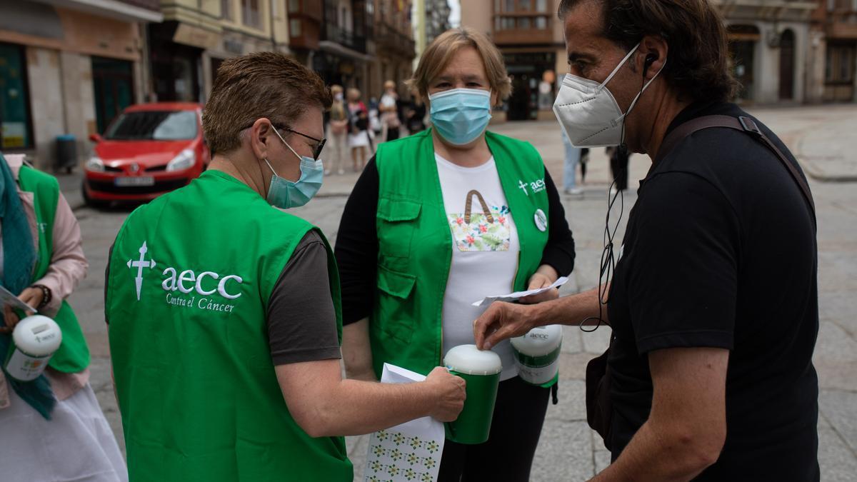 Cuestación de la Asociación contra el Cáncer de Zamora