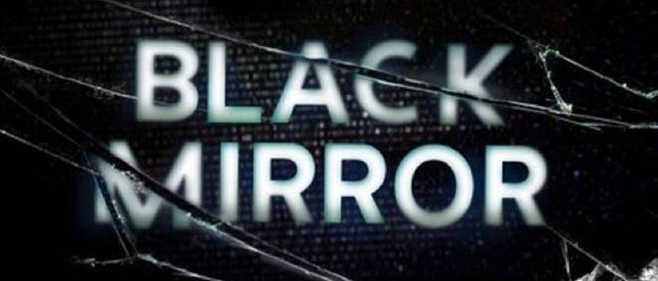 """Imagen de los títulos iniciales de """"Black Mirror""""."""