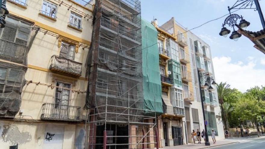 Comienzan las obras de rehabilitación de tres edificios en San Diego y Jara, en Cartagena