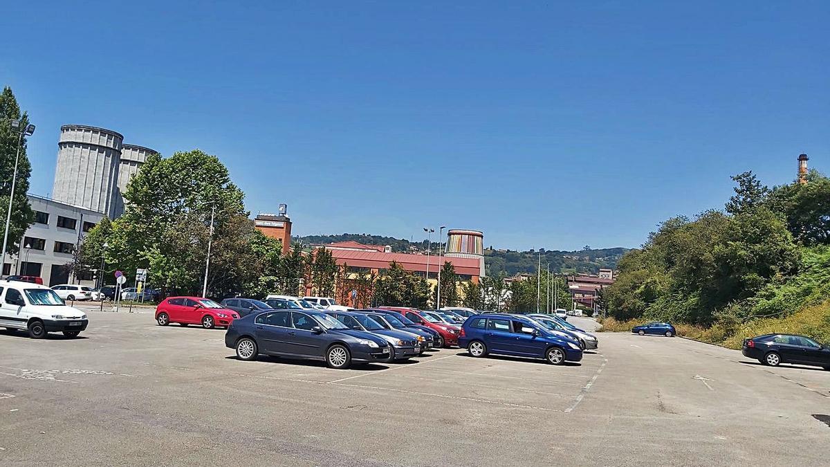 El solar cedido por el Ayuntamiento de Langreo al Principado para construir el centro de tecnologías limpias.