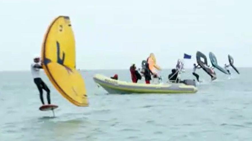 El wingfoil, una nueva modalidad de surf que será olímpica