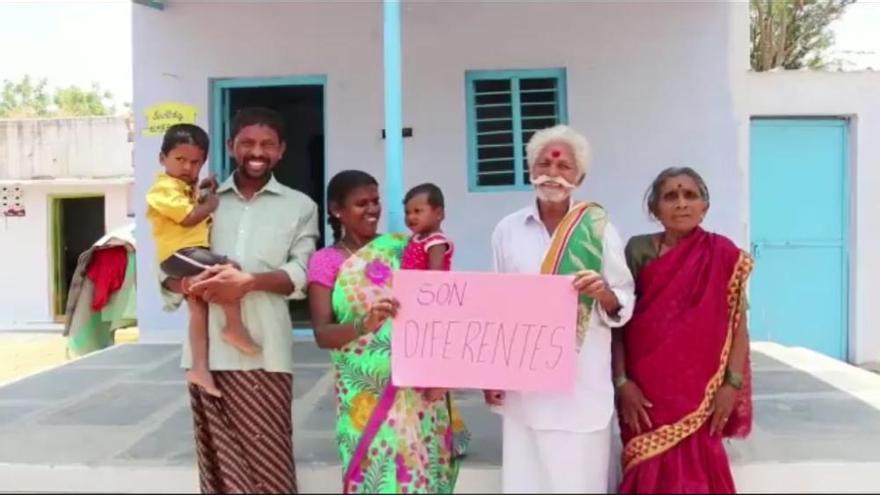 Diez familias de India tienen casa gracias a la falla Convento Jerusalén
