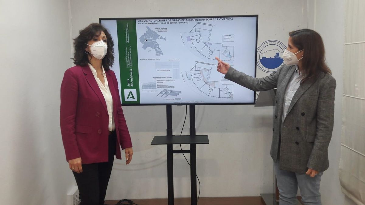 María Luisa Ceballos y Cristina Casanueva explican las obras que se van a acometer.
