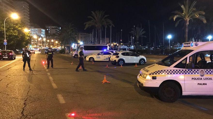 El dispositivo antibotellón levanta 178 actas durante el fin de semana en Palma