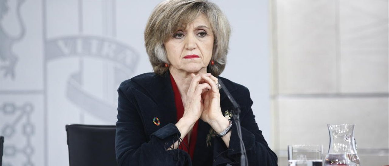 La ministra de Sanidad, Maria Luisa Carcedo.