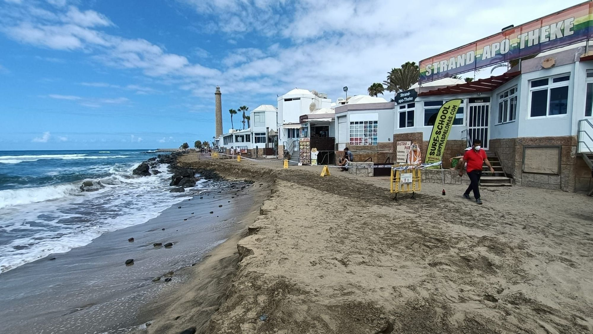 Estado del acceso a la playa de Maspalomas (26/04/21)