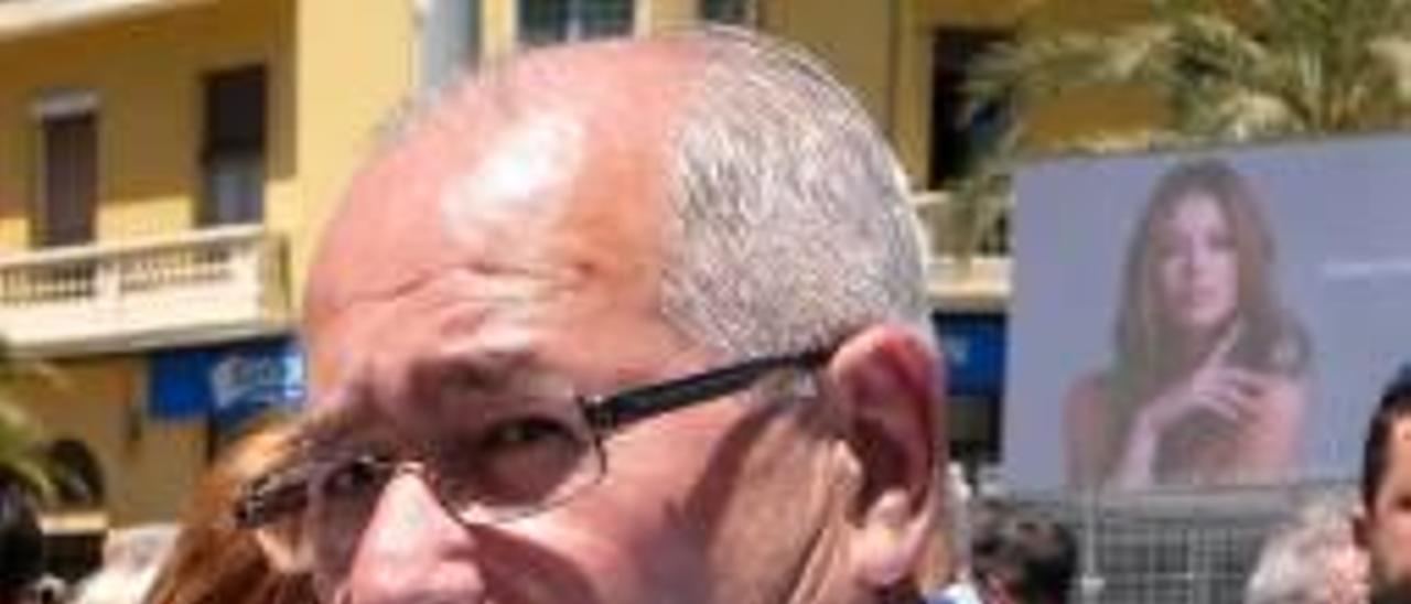 José Ramón González, en una mascletà.