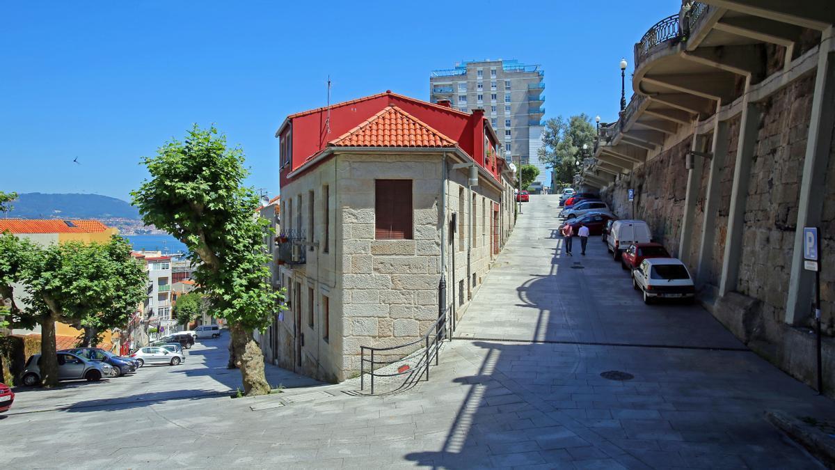 Vista de la calle Poboadores en Vigo.