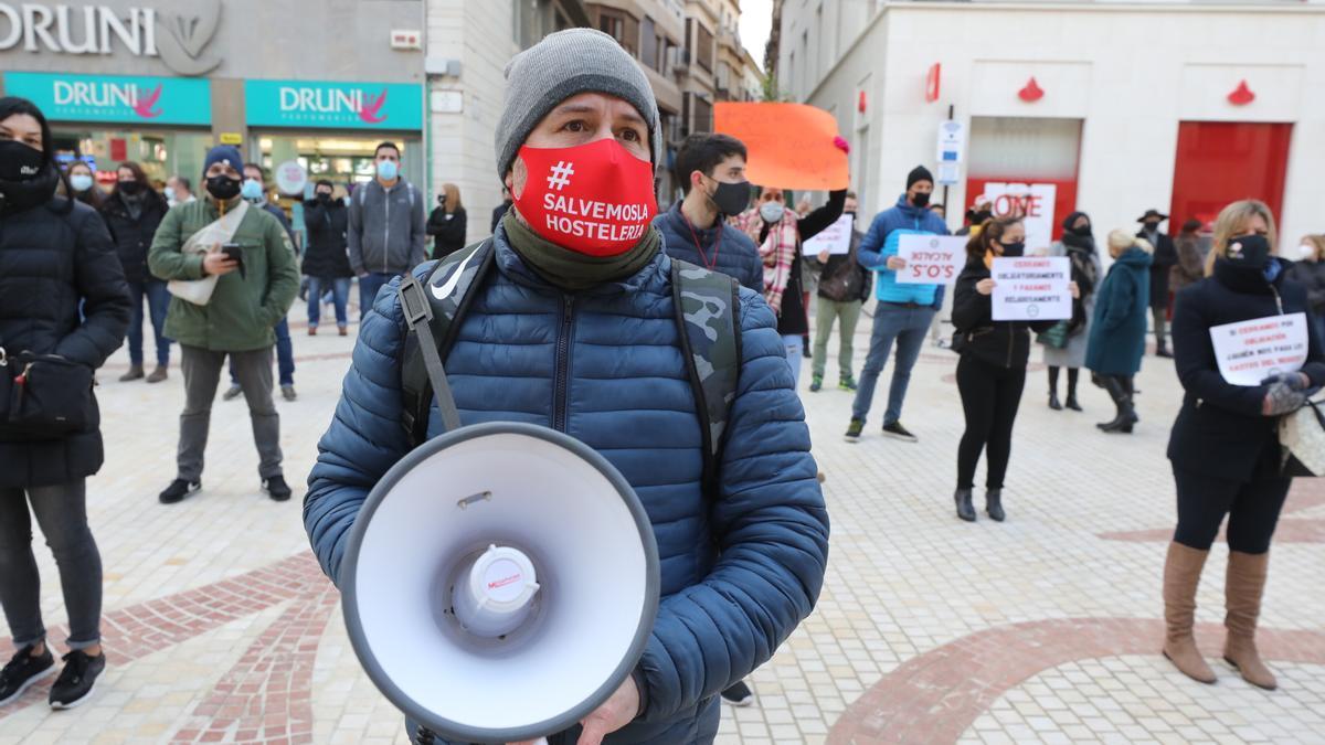 Protesta de hosteleros en Elche
