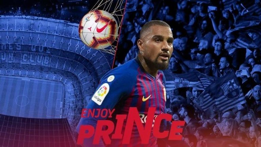 Kevin-Prince Boateng, nou jugador del Barça fins a finals de curs