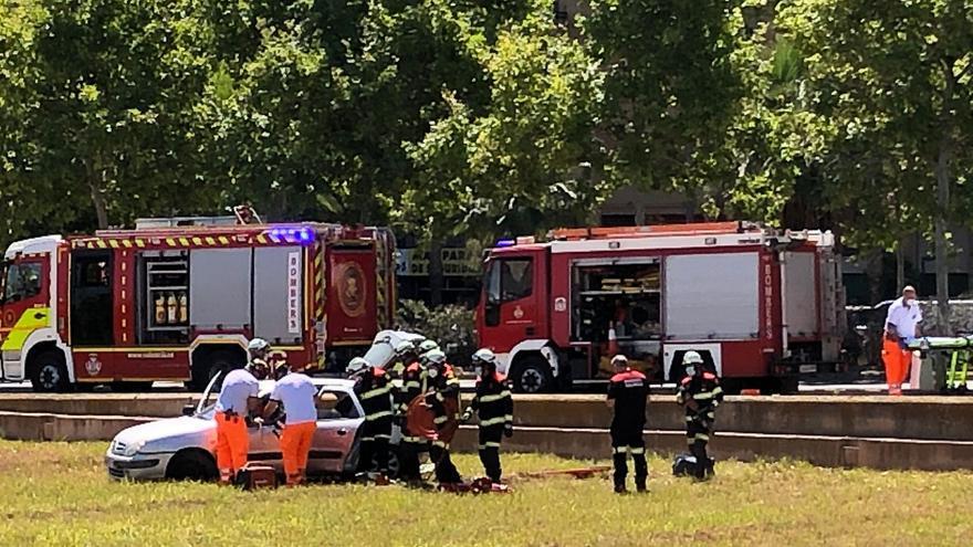 Accidente en la Ronda Norte de València