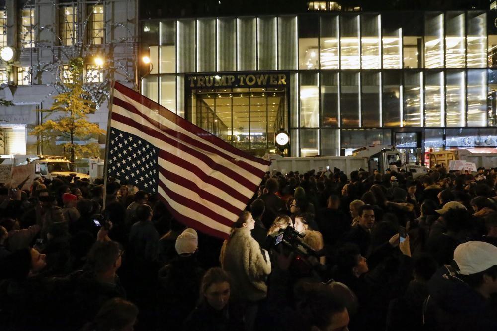 PROTESTA POR RESULTADO ELECTORAL EN NUEVA YORK