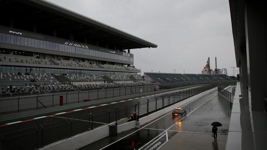 Peligra la clasificación del Gran Premio de Rusia por el mal tiempo