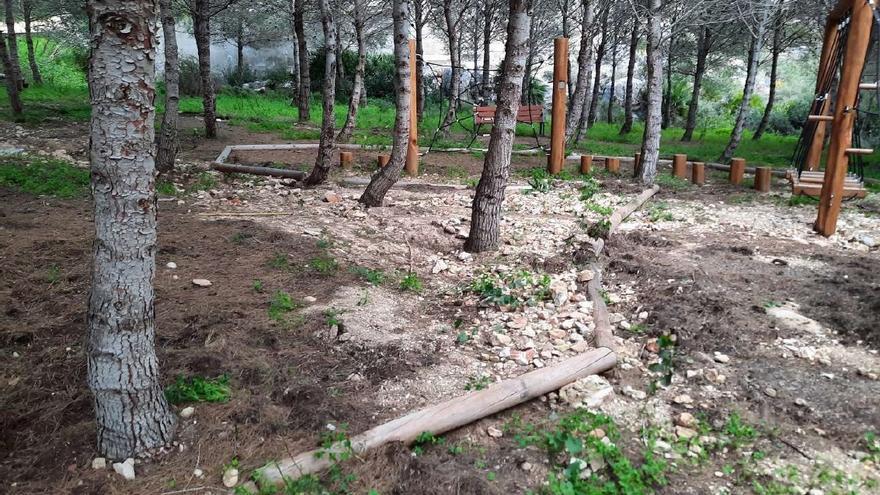 Benitatxell rehabilitará el parque del Garsivà, muy dañado por el temporal Gloria