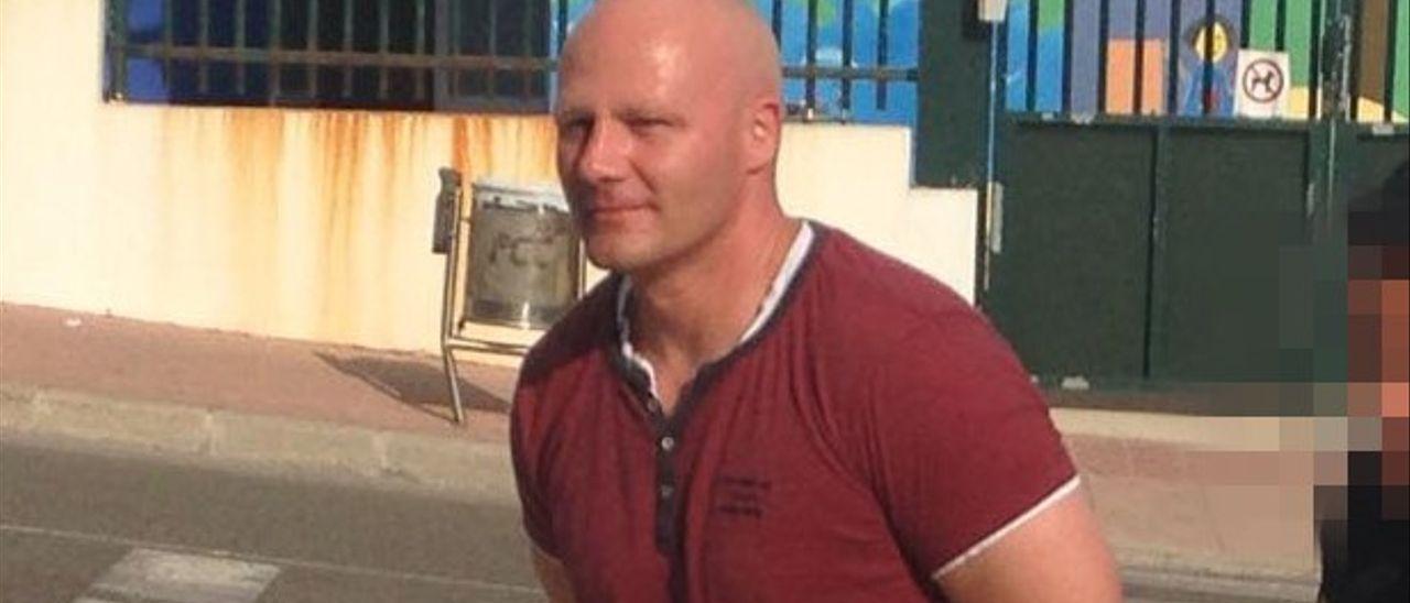Stephane Schmidt, cuando fue detenido en Menorca en 2018.