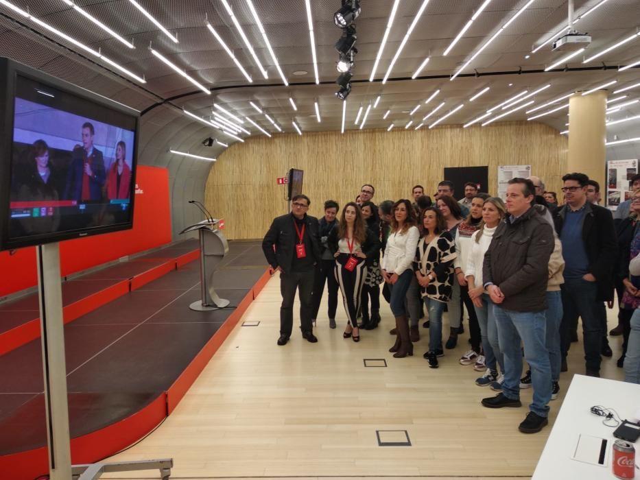 Así vivió el PSOE de Asturias su noche electoral