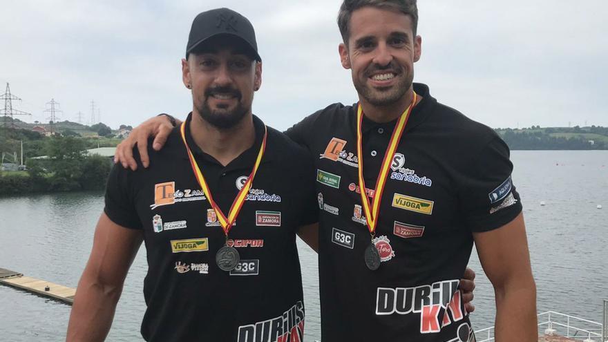 Garrote y Vicente, plata en el K2 de la Copa España de Sprint