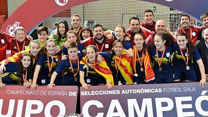 Catalunya sub-16 femenina,  campiona estatal amb l'olesà Jordi Barrero