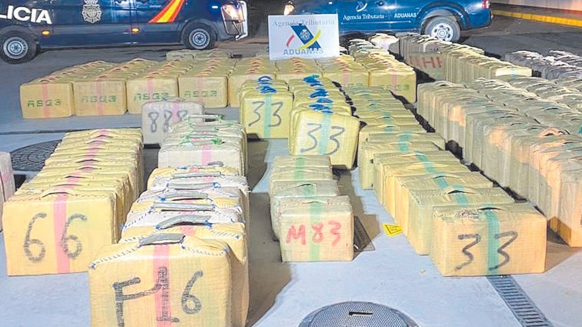 Parte del alijo intervenido a la banda de narcos, con Mallorca como base de operaciones.