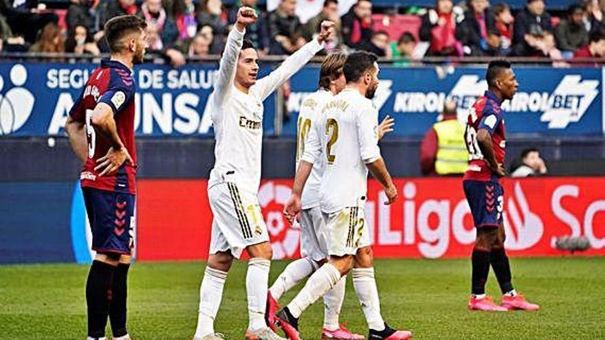 El Madrid reacciona con una goleada en El Sadar