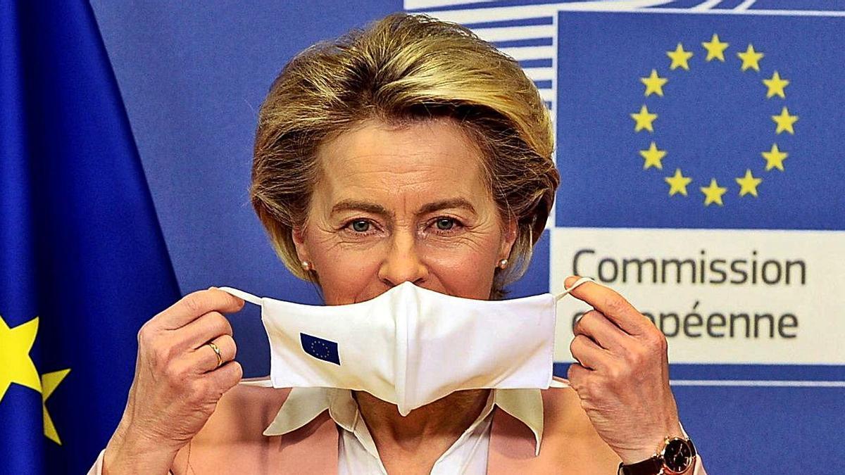 Ursula von der Leyen, en una conferencia de prensa.   | // REUTERS