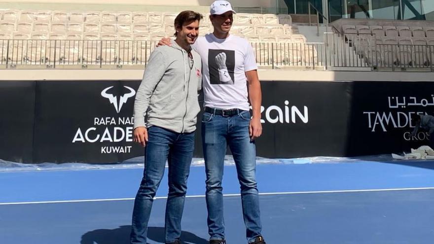 Nadal inaugura el miércoles contra Ferrer en Kuwait su tercera academia fuera de España