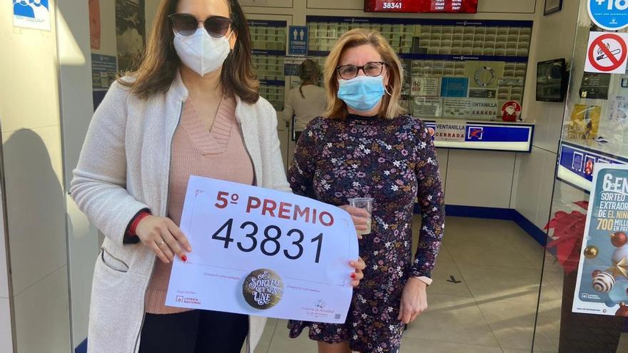 El quinto premio 43831, vendido en Murcia y Cartagena