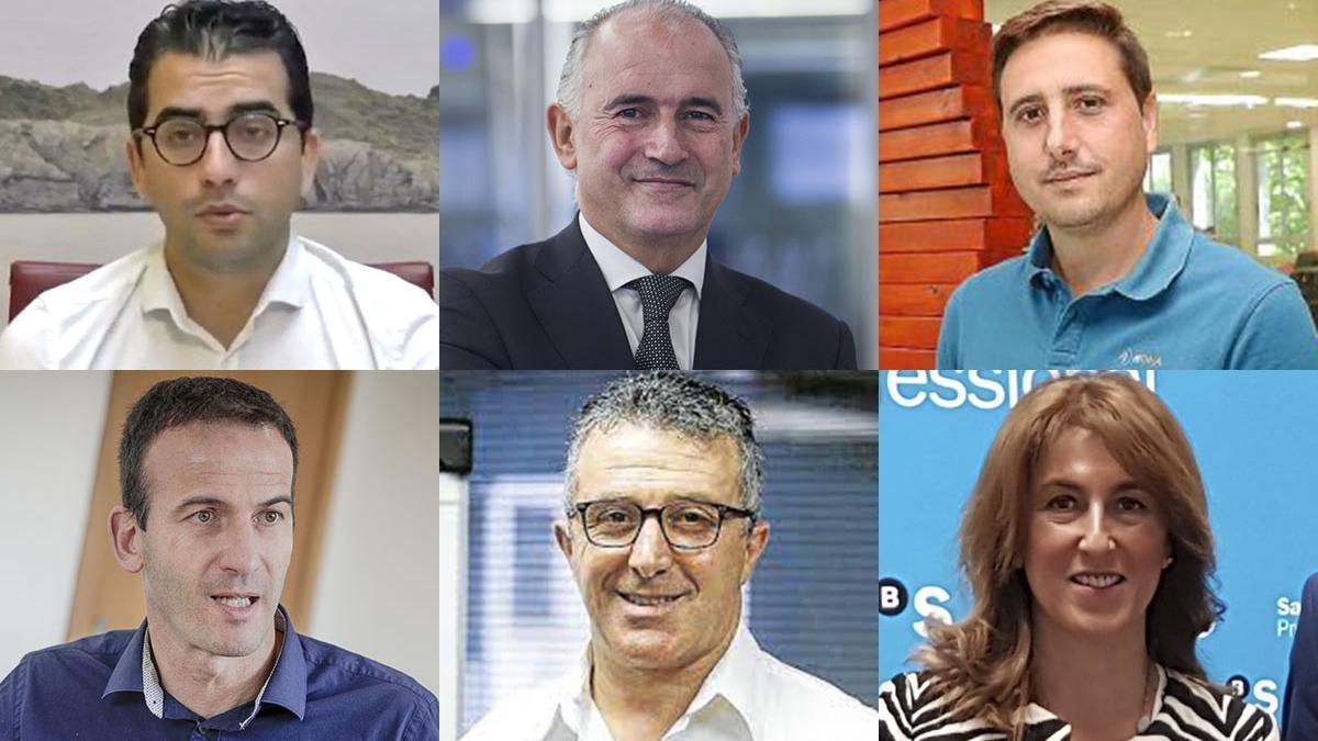 Miquel Company, Jaime Matas, José Mañas, Jordi Mora, Alfonso Rojo y Carmen Urraca