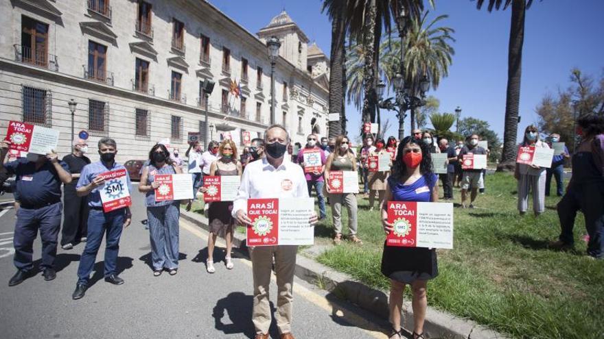 Manifestación por la subida del SMI