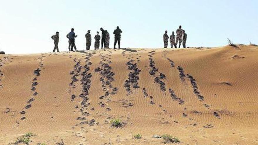 Militares en el desierto saharaui.
