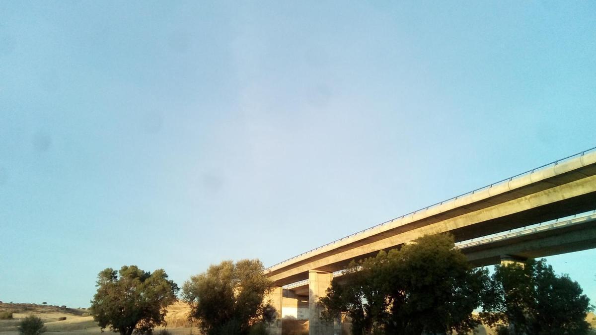 El cielo de Zamora, a la altura de la carretera de La Hiniesta
