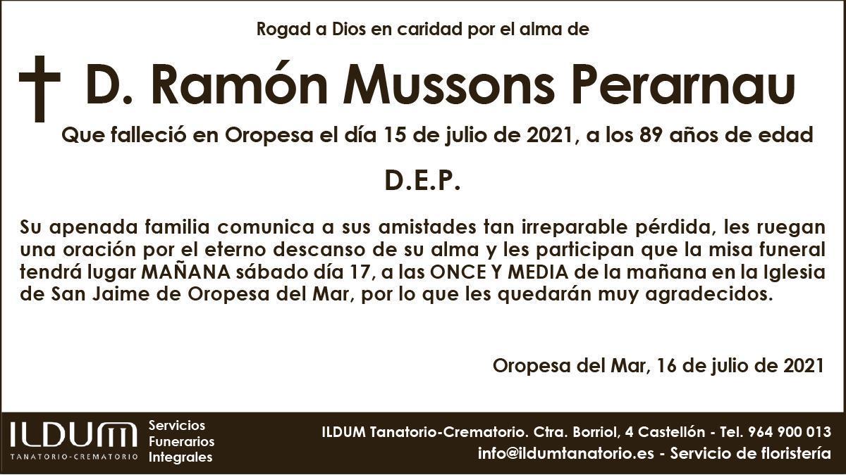 D. Ramón Mussons Perarnau