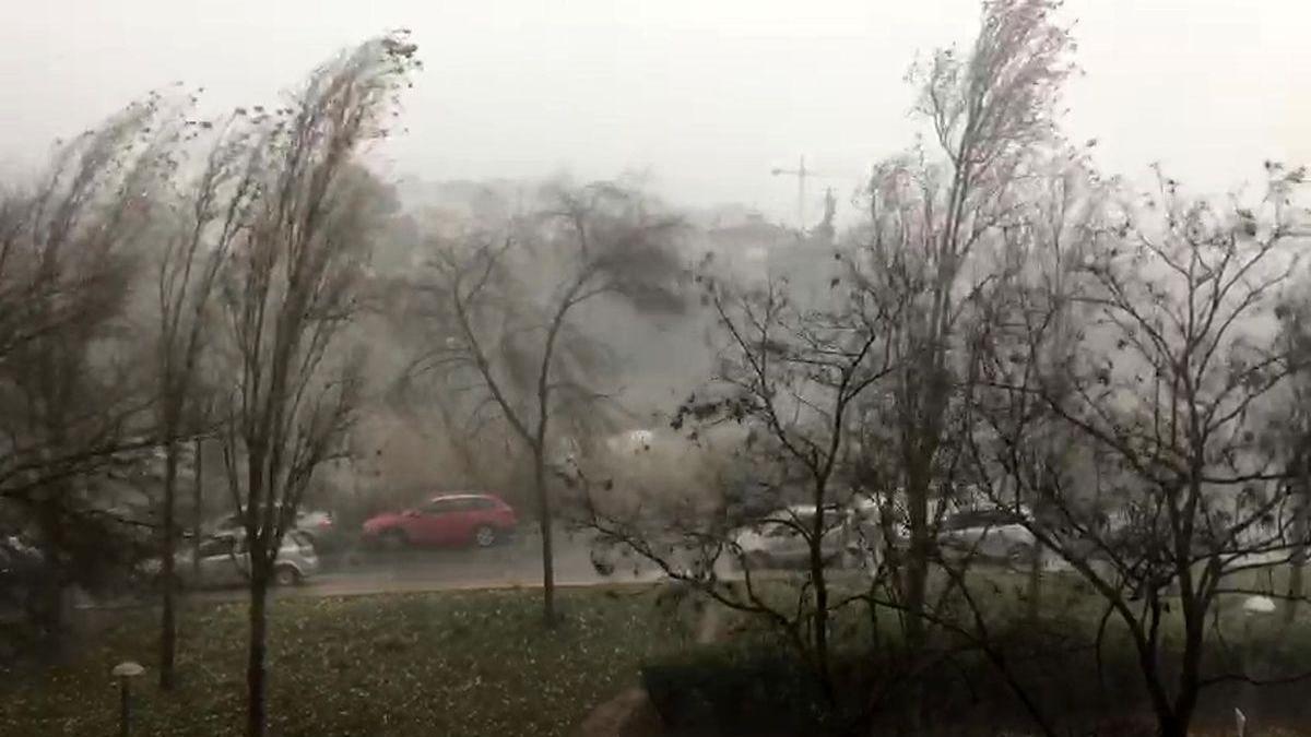 La borrasca 'Hortensia' deja destrozos por vendavales en Galicia