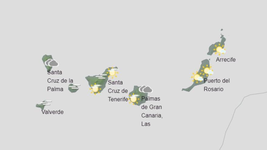 Canarias espera un domingo de tiempo tranquilo