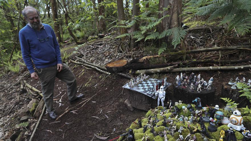 Corias de Pravia esconde un bosque mágico de personajes pop