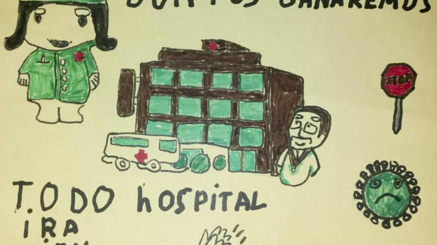 El Lluís Alcanyís celebra el Día del Niño y la Niña Hospitalizados con una muestra de dibujos de menores