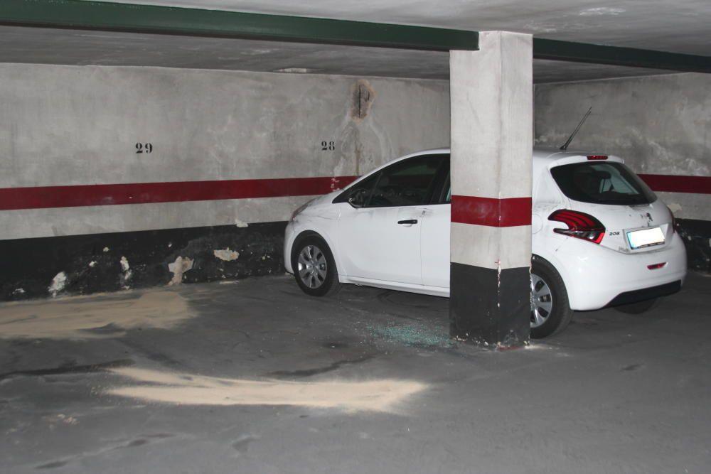 El garaje de Patraix donde Antonio fue asesinado.