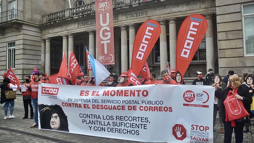 """Concentración de protesta contra el """"desguace"""" de Correos"""