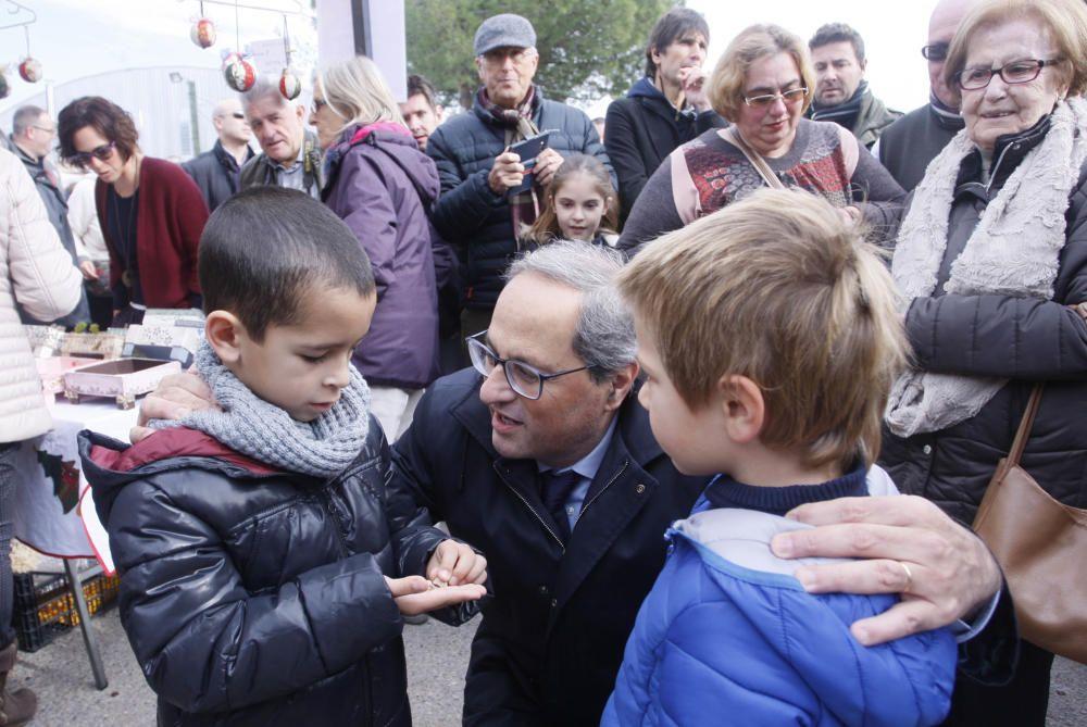 El president de la Generalitat, Quim Torra visita la Fira del Pa i la Xocolata