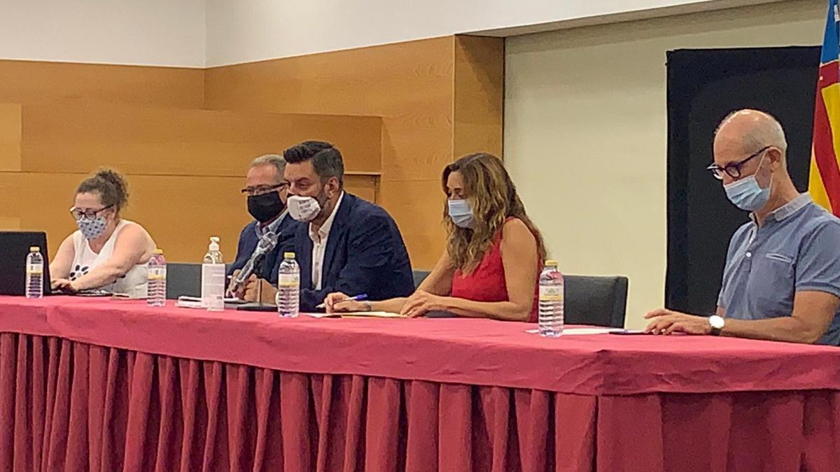 Carlos Galiana e Isaura Navarro, en la reunión del pasado mes de septiembre.