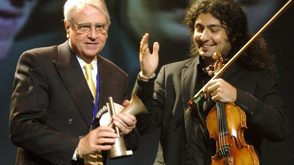 Halffter, a la izquierda, en una imagen de 2005.