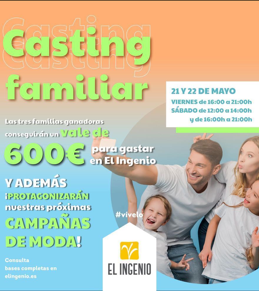 El Ingenio busca a tres familias para protagonizar sus futuras campañas