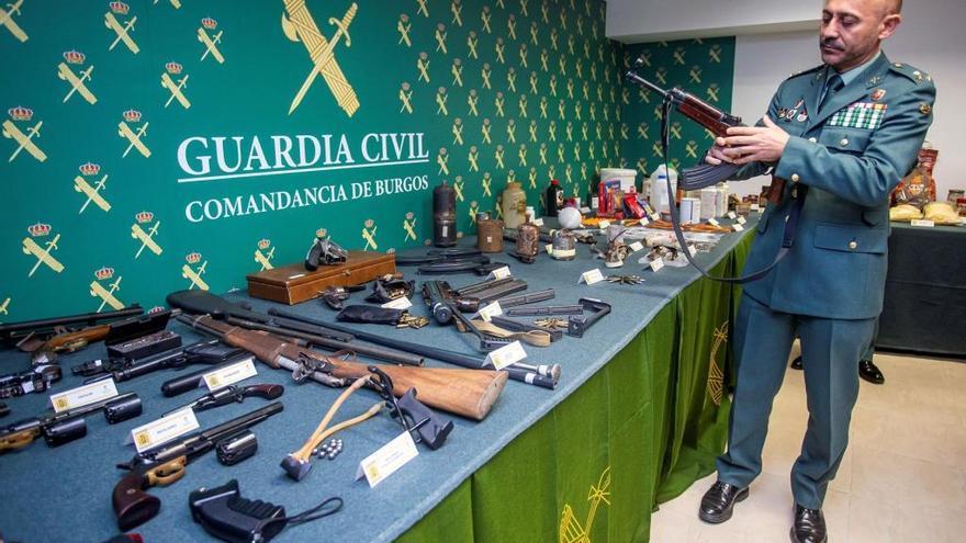 Desmantelado un taller de fabricación de artefactos explosivos en Miranda