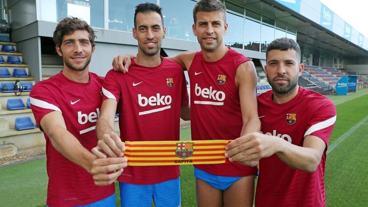 Los capitanes del FC Barcelona en la temporada 2021/22.