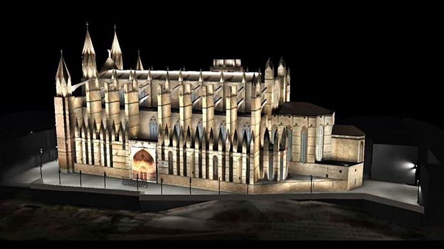 La Comisión de Centro Histórico da el visto bueno a la nueva iluminación de la Seu