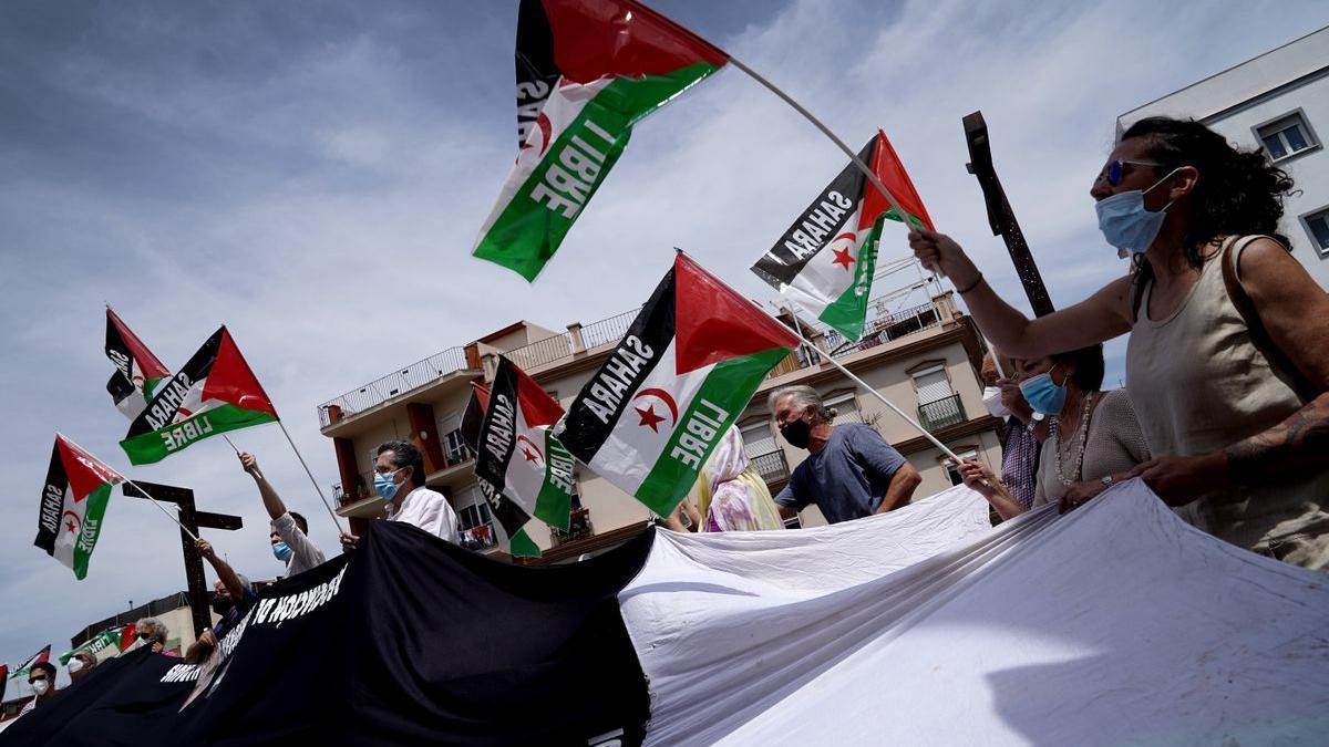 Concentración de apoyo al Frente Polisario en Algeciras.