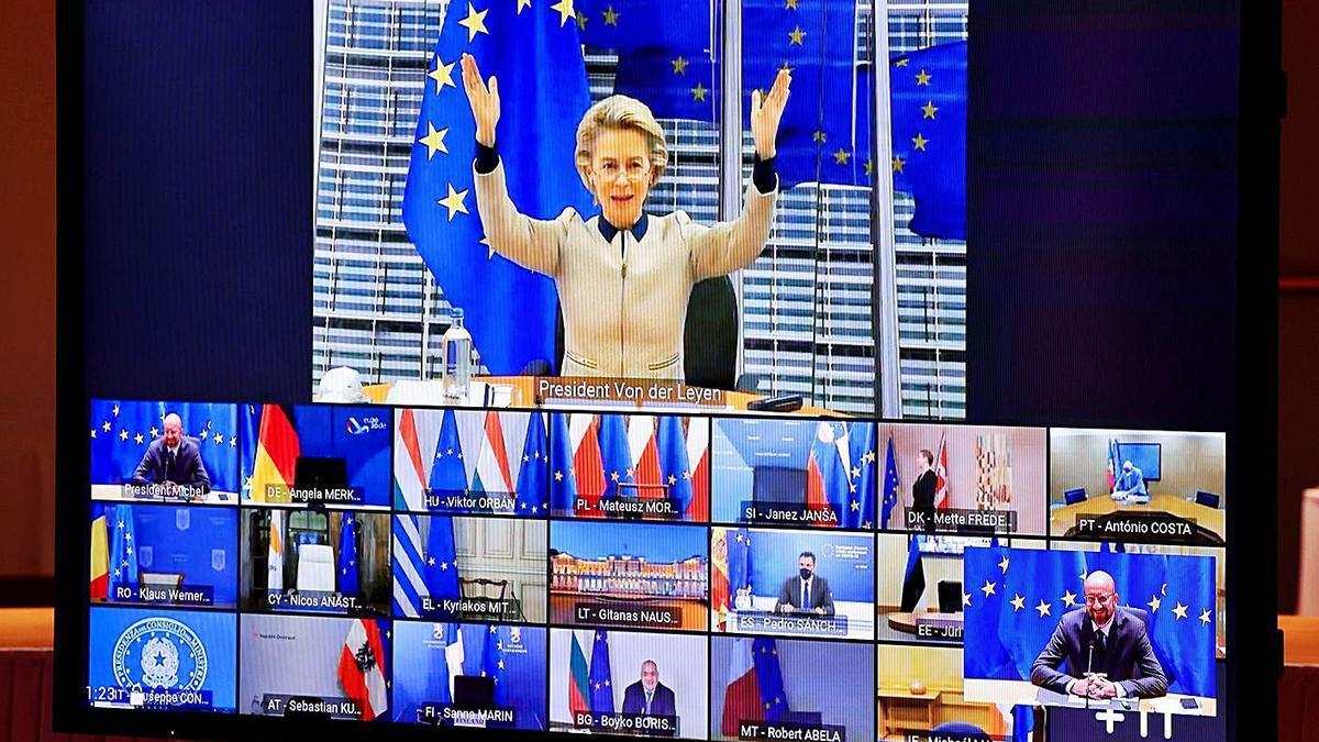 La presidenta de la Comisión Europea, Ursula Von der Leyen, ayer.  | // REUTERS