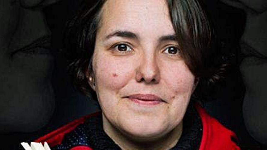 La escritora Leticia Sánchez Ruiz, esta tarde, en el Club Prensa Asturiana